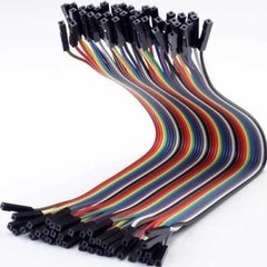 Pack 40 Cables 20cm Protoboard Hembra Hembra Nubbeo