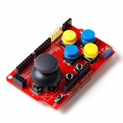 Arduino Joystick Shield 7 Pulsadores Con Interfaces Nubbeo