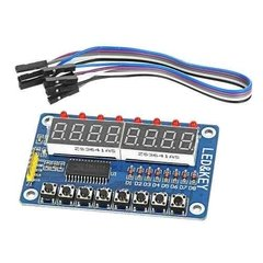 Modulo Display 8 Digitos 8 Teclas 8 Leds Tm1638 Nubbeo