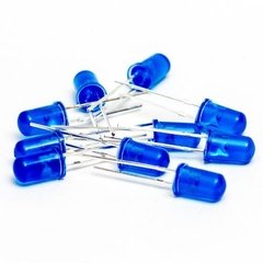 Pack 10 Leds 5mm Azul Difuso Arduino Nubbeo - comprar online