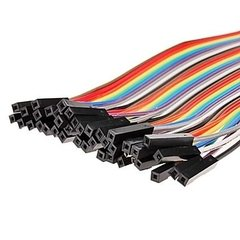 Pack 40 Cables 20cm Protoboard Hembra Hembra Nubbeo - comprar online