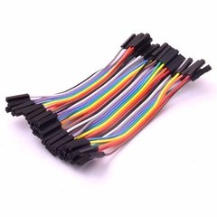Pack 40 Cables 10cm Protoboard Hembra Hembra Nubbeo
