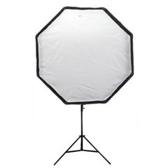 Kit Softbox Octogonal 80cm Com Tripé E Suporte Flash Speedlite