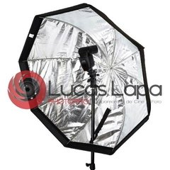 Kit Softbox Octogonal 80cm Com Tripé E Suporte Flash Speedlite - comprar online