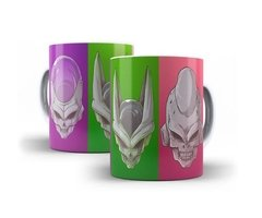Caneca Dragonball Z Vilões Freeza, Cell, Majin Boo Exclusivo