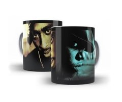 Caneca Notorius Big 2 Pac Rap Hip Hop Promocional Art # 01