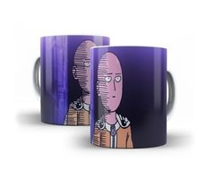 Caneca Copo Chicara One Punch Man Saitama Anime Oferta # 03