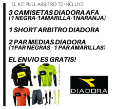 Kit Full Arbitro DIADORA AFA