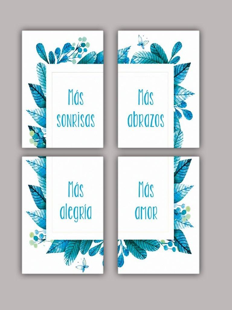 Cuadro Souvenirs Personalizados Frases Con Flores X 25u