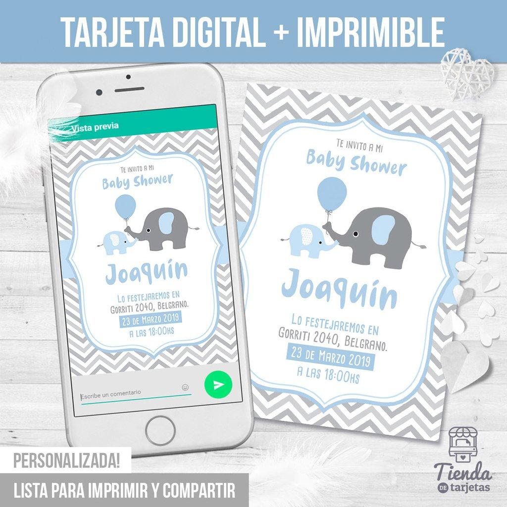 Invitación Elefantitos Comprar En Tienda De Tarjetas