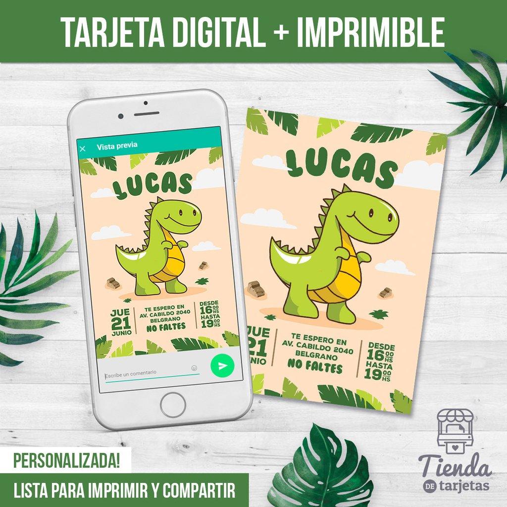 Invitación Dinosaurio Comprar En Tienda De Tarjetas