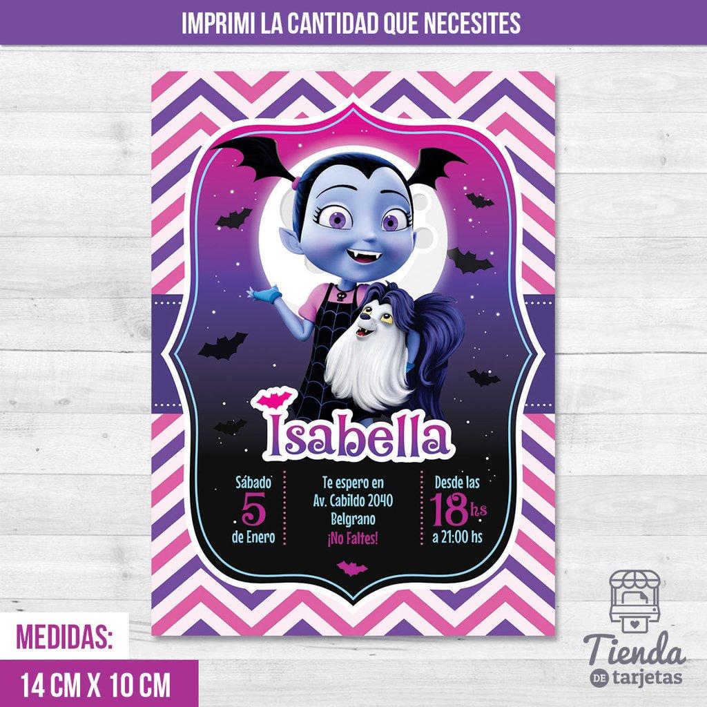 Invitación Vampirina De Disney Tienda De Tarjetas