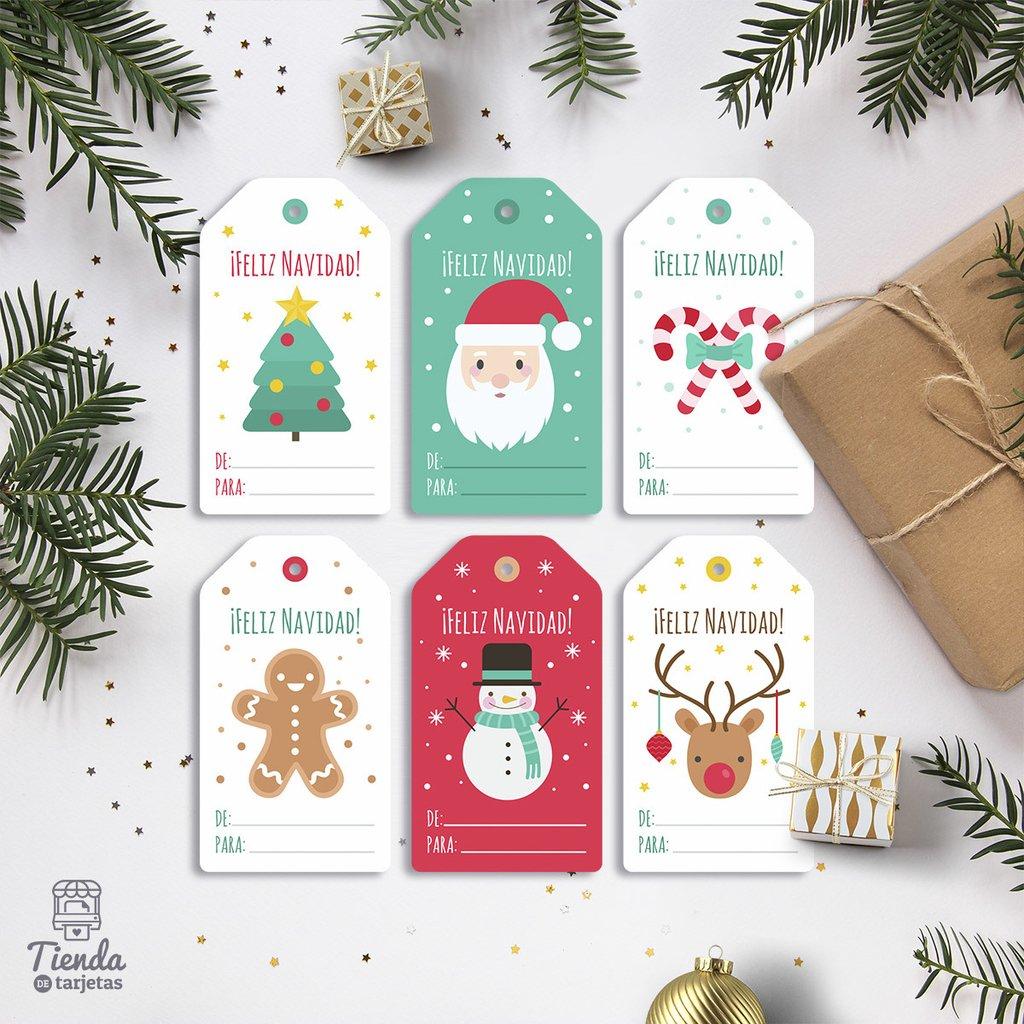 Etiquetas Colgantes Para Regalos De Navidad