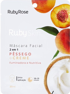 Máscara Facial Pessego HB708 - Ruby Rose Skin