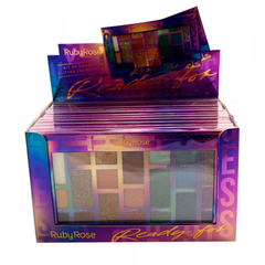 Display paleta de sombras Ready For HB1059 - Ruby Rose (12 unidades)