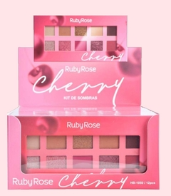 HB1050x12 Display paleta de sombras Cherry  - Ruby Rose (12 u.)