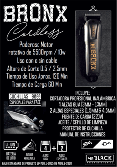 CLIPPER PROFESIONAL BRONK MR BLACK - ARAESTE DISTRIBUIDORA