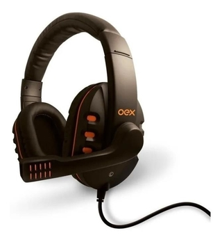HEADSET GAMER ACTION PT/LR - OEX HS200