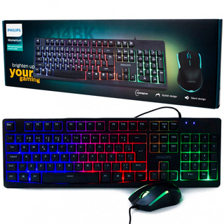 Combo Teclado + Mouse Gamer - Philips  C214BK