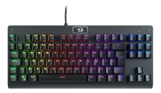 TECLADO MECANICO DARK AVENGER PRETO - RAINBOW (SWITCH MARROM) - REDRAGON