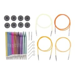 Set Agujas Circulares Intercambiables Knitpro ZING - Deluxe - Budetex arts & crafts
