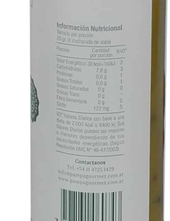 Ingredientes y Tabla Nutricional Pampa Gourmet