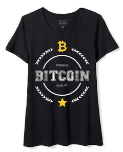 Camiseta Feminina Baby Look Long Bitcoin Circle