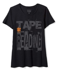 Camiseta Feminina Baby Look Long Trader Tape Reading
