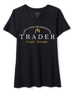 Camiseta Feminina Baby Look Long Circle Trader King