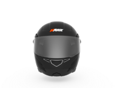 Casco para moto rebatible Hawk RS5 negro - bicisymotos