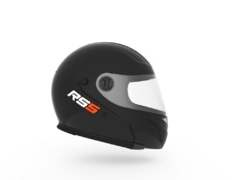 Casco para moto rebatible Hawk RS5 negro