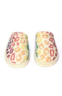 Pantufla animal print multicolor