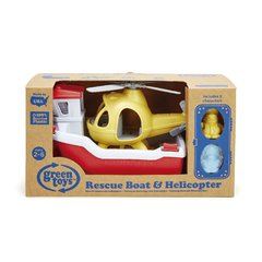 Rescue Boat & Helicopter - Green Toys