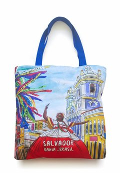 Salvador | bolsa colorida aquarela
