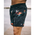 Boardshort Full Printed Floral Black Orange 15""
