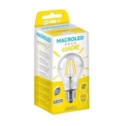 LÁMPARA FILAMENTO LED 4W AMARILLO MACROLED