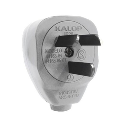 ENCHUFE 10A MACHO KALOP LATERAL