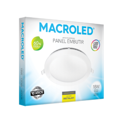 PANEL DE EMBUTIR LED 18W REDONDO MACROLED en internet