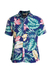 Camisa Areia Branca Slim Fit Floral Hawaii Estampada