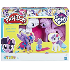 Juego de masas Play-doh My Little Pony Twilight Sparkle Rarity art B9717