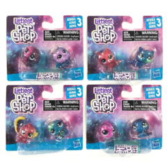 Littlest pet shop serie 3 - 2 figuras - Original Hasbro
