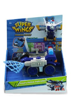 Vehículo transformable Super Wings Paul's police patroller. US730840
