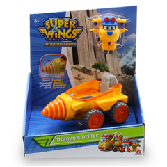 Vehículo transformable Super Wings Donnie`s driller