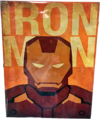 Placa Decorativa IRON MAN