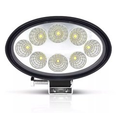 FAROL AUXILIAR 24W 8 LEDS OVAL OFF ROAD