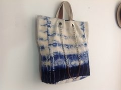 Bolsa Tote Blue and White
