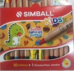 10 LAPICES DE COLORES SIMBALL JUMBO