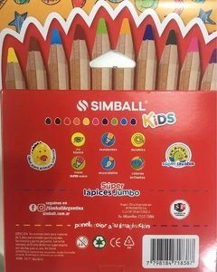 10 LAPICES DE COLORES SIMBALL JUMBO - comprar online