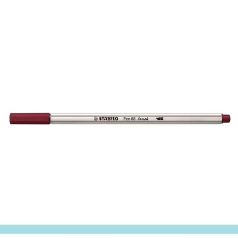 Caneta Stabilo Pen 68 Brush - 568/19 Bordo