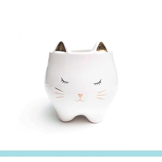 Cachepot Cute Cat porcelana